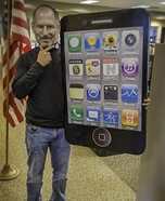 Steve Jobs and iPhone/iPad Homemade Costume