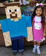 Steve Minecraft Homemade Costume