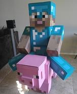 Steve riding a Pig Homemade Costume