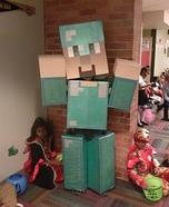 Steve with Diamond Armor Homemade Costume