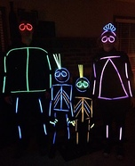 Stick Figure Family Homemade Costume