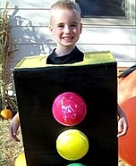 Homemade Stop Light Costume