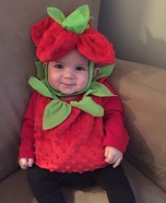 Cute Strawberry Baby Costume