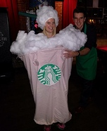 Strawberry Frappuccino Homemade Costume