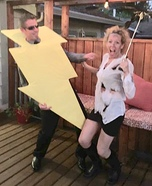 Struck by Lightning Homemade Costume