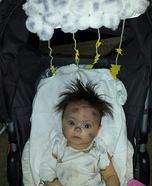 Struck by Lightning Baby Homemade Costume