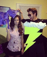 Struck by Lightning Couple Homemade Costume