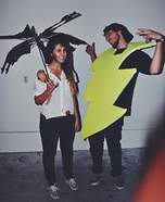 Coolest couples Halloween costumes - Struck With Lightning