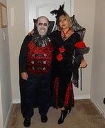 Stylish Mr. & Mrs. Dracula Homemade Costume