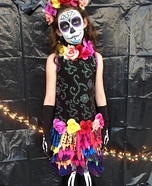 Sugar Skeleton Girl's Costume