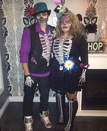 Sugar Skull Couple Costume