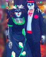 Sugar Skull Couple Homemade Costume