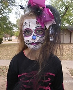 Sugar Skull Girl Homemade Costume