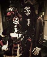 Sugar Skull Pirates Homemade Costume