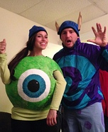 DIY Sully & Mike Wazowski Costumes