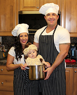 Chefs and  Spaghetti & Meatballs Family Costume