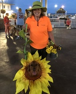 Sunflower Harvest Homemade Costume