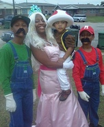 Super Mario Bros Family Homemade Costume