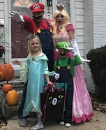 Super Mario Family Homemade Costume