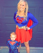 Super Mom and Super Toddler Costume