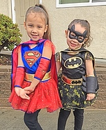 Supergirl and Batgirl Costumes