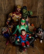 Superhero Family Homemade Costume
