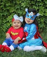 Superhero Sisters Homemade Costume