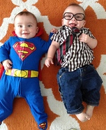 Superman and Clark Kent Baby Costumes