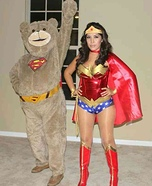 SuperTed and Wonder Woman Homemade Costume