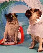 Surfer Pugs Homemade Costume