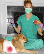 Costume ideas for pets and their owners: Surgery Gone Wrong