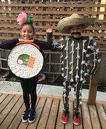 Sushi and Cactus Homemade Costume