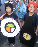 Sushi and Soy Sauce Homemade Costumes