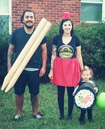 Sushi Plate Family Homemade Costume
