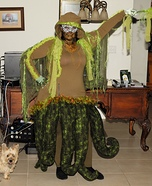 Swamp Monster Homemade Costume