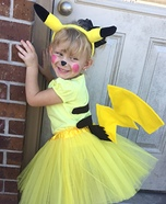 Sweet Little Pikachu Homemade Costume