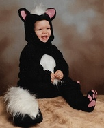 Sweet Skunk Homemade Costume