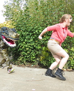T-Rex and Ellie from Jurassic Park Homemade Costume