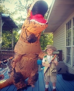 T-Rex Hunter Homemade Costume