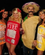 Taco Bell Sauce Packets Group Costume
