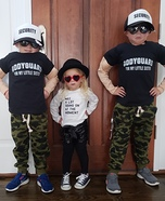 Taylor Swift and her Bodyguards Homemade Costume