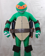 Teenage Mutant Ninja Turtle Michelangelo Homemade Costume
