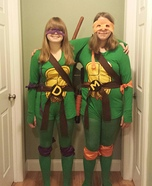Teenage Mutant Ninja Turtles Donatello and Michelangelo Homemade Costume