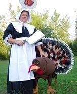 Thanksgiving Turkey Dog Homemade Costume