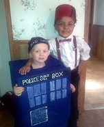 The 11th Doctor and his Tardis Homemade Costume