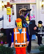 The Awesome Lego Family Homemade Costume