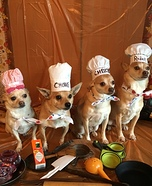 The Barking Chefs Dogs Homemade Costume