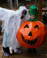 The Big Pumpkin and Ghost Homemade Costume