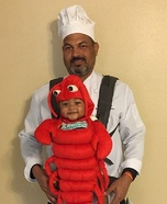 The Chef and His Lobster Homemade Costume
