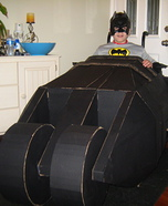 Homemade Batman in Batmobile Costume